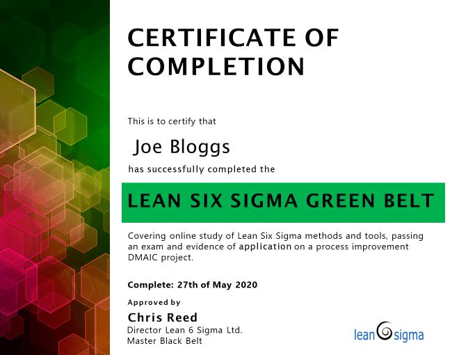 Example LSSGC Certificate